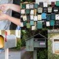 sokféle különböző színű, típusú postaláda