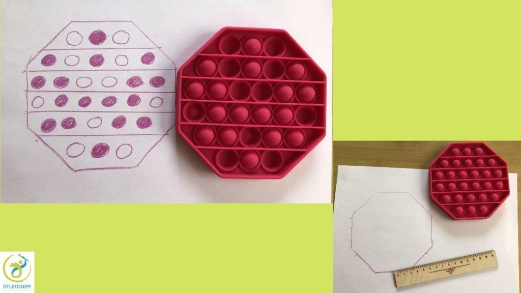 Nyomd a buborékot minta és mellette a kész forma